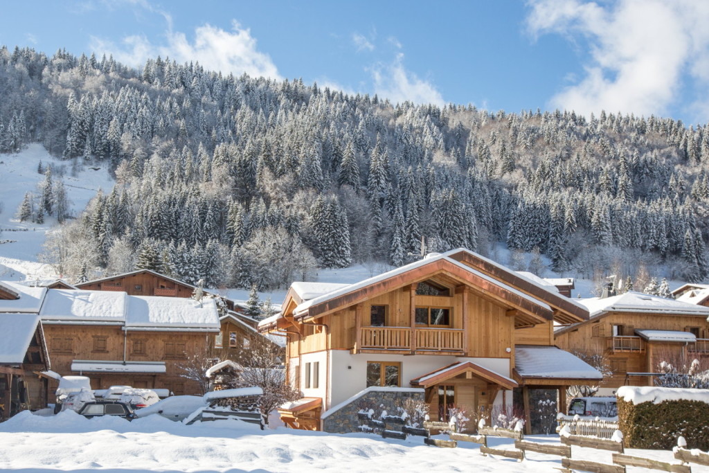 Chalet Les Roches Noires External View to Pleney Morzine