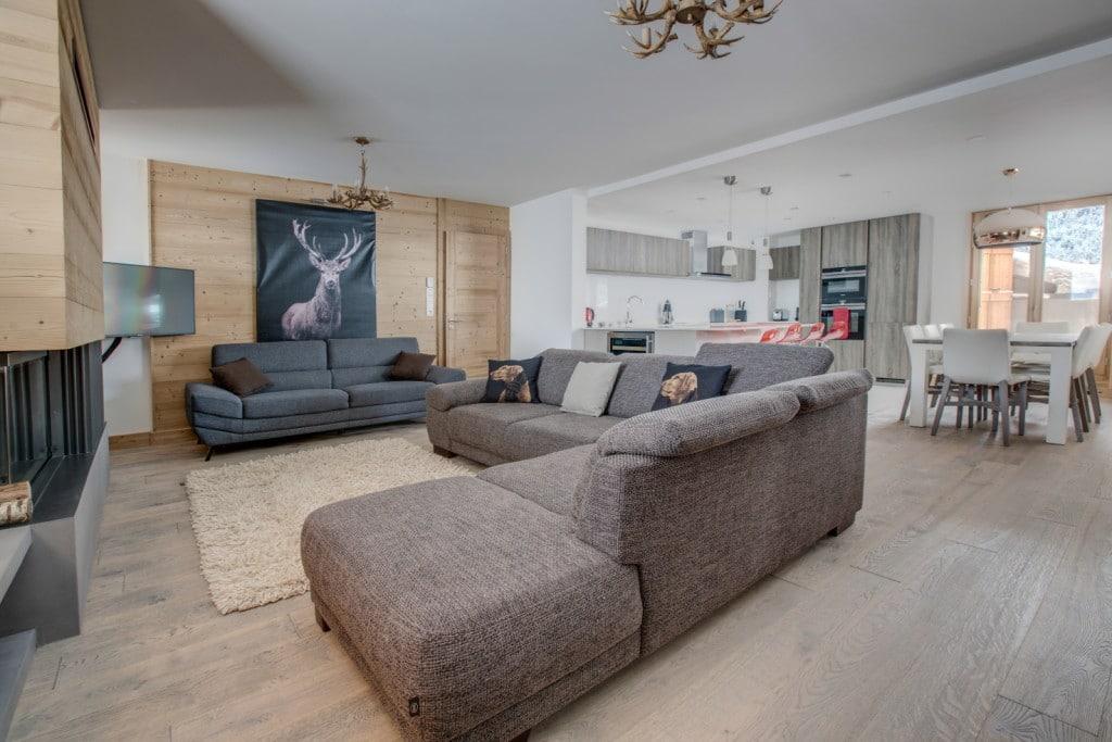 Altaka 4 living area luxury self catered apartment Morzine