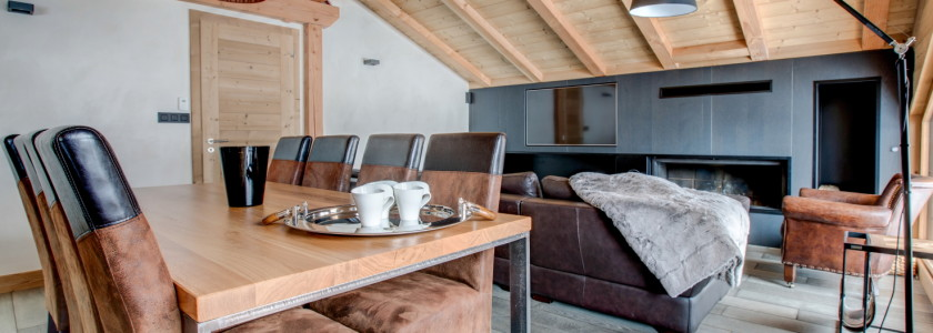 Atlaka 2 Living Area luxury self catered apartment morzine