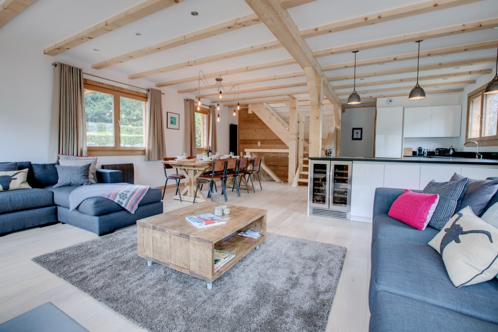 chalet north star living area