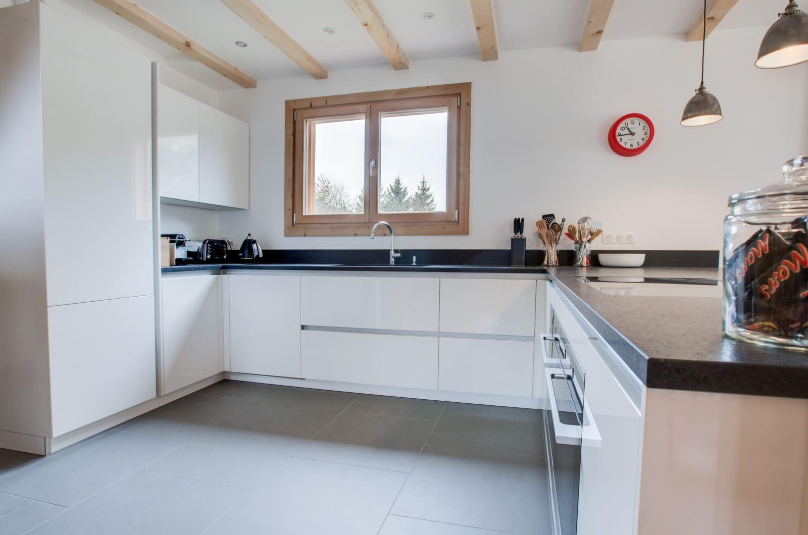 chalet north star kitchen, morzine chalet