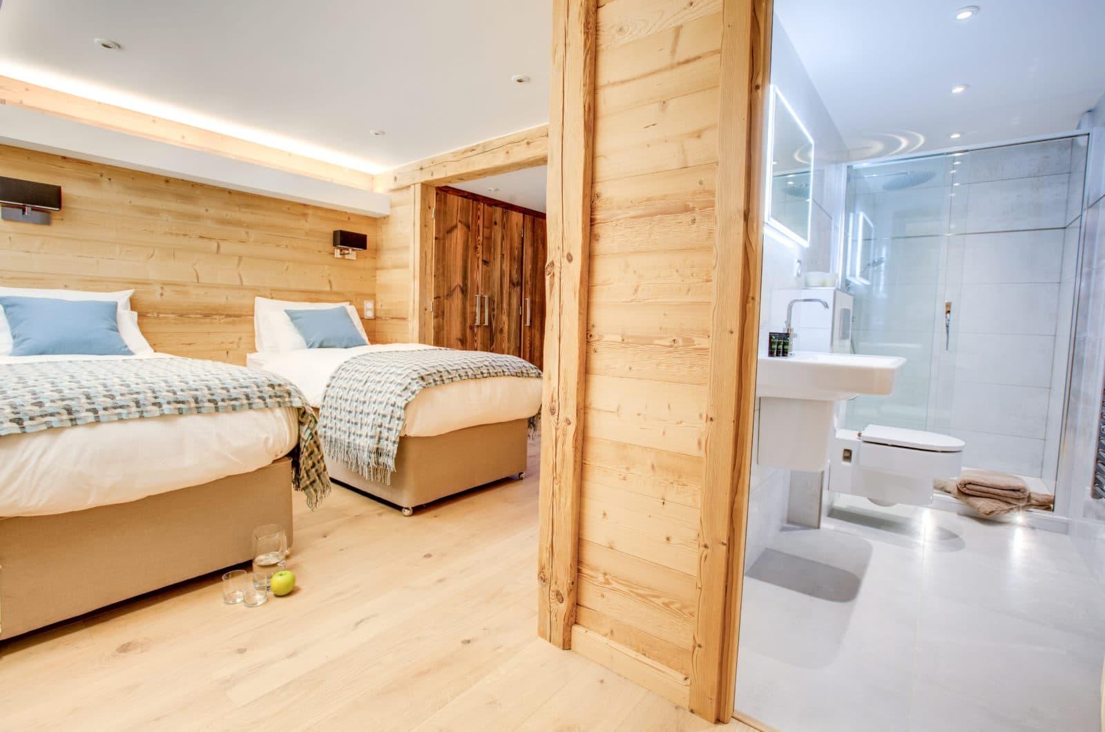Chalet L'Anton Bedroom 4 & Ensuite