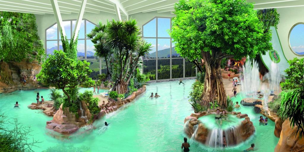 Aquariaz Indoor Water Park Elevation Alps