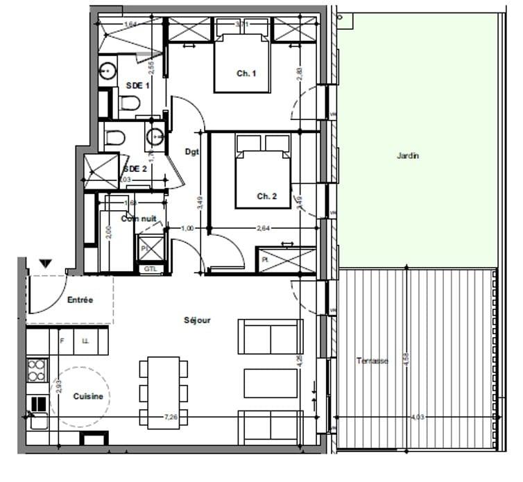 Le Lapin Floorplan
