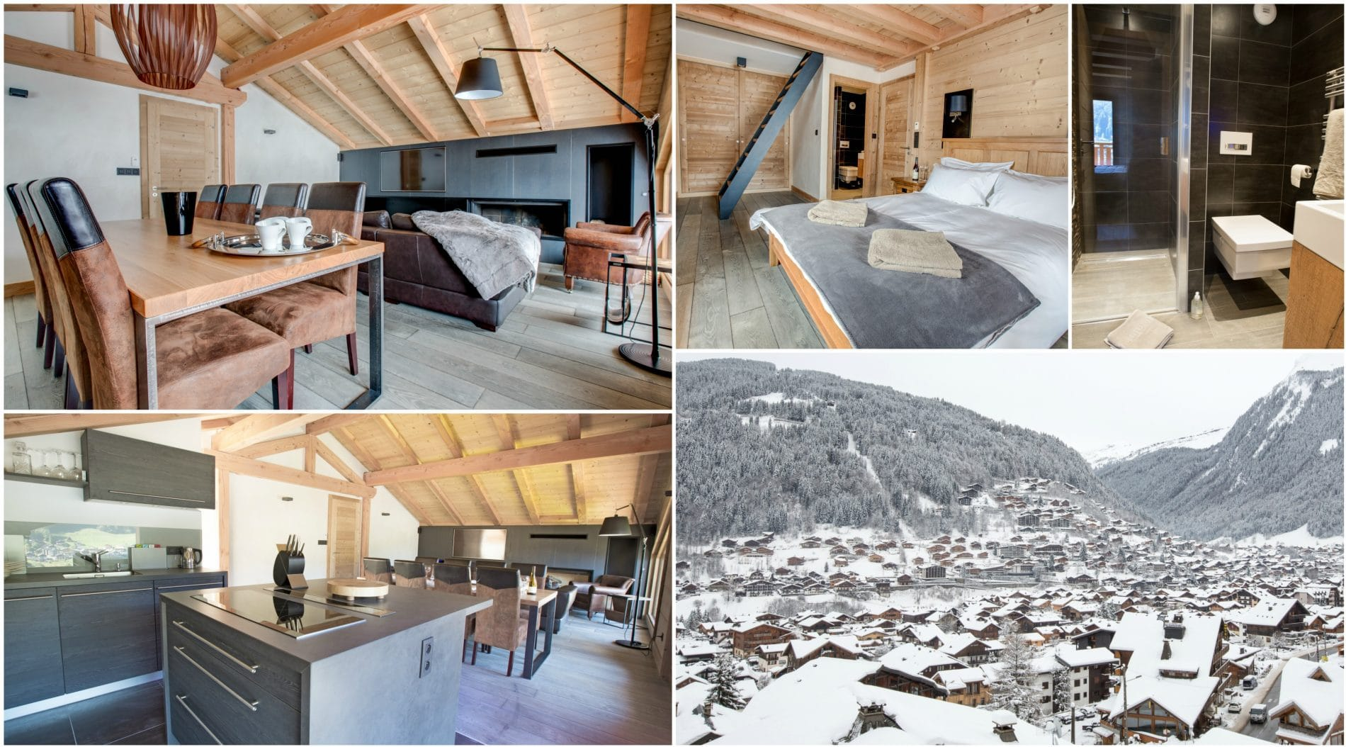 Chalet L Elegante Luxury Ski Sleeps 9 In 4 Ensuite Bedrooms And Is 5 Metres From The Free Hop On Bus That Takes You Directly To Pleney