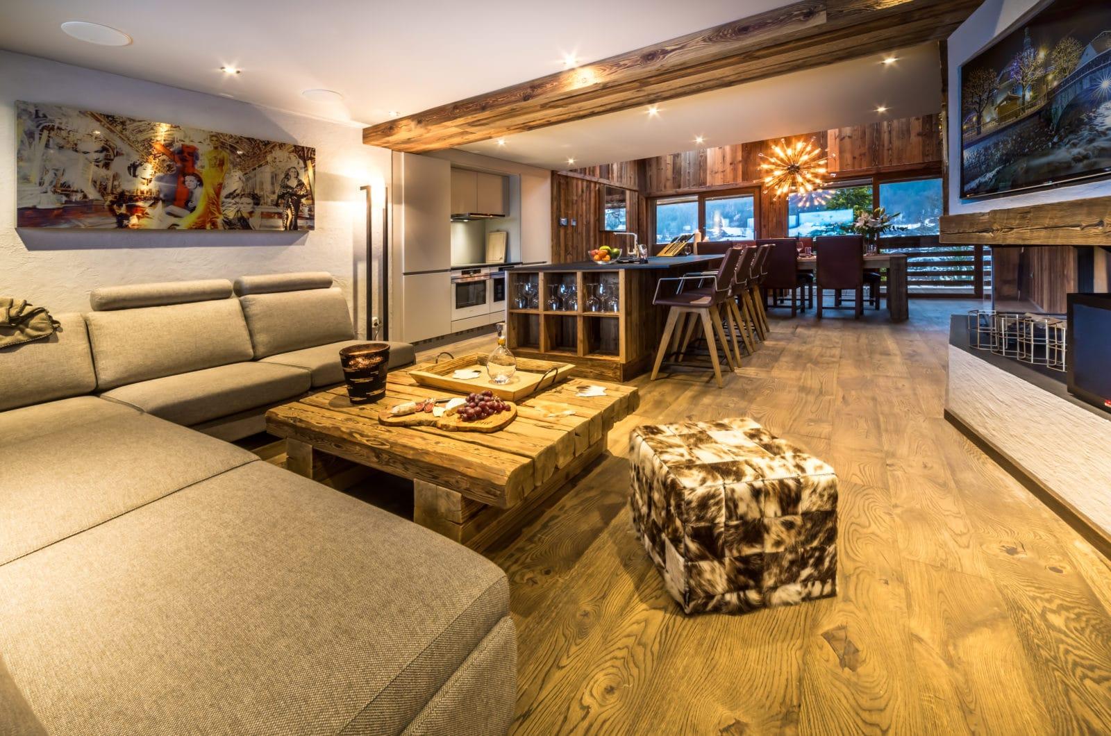 Chalet Kapa Lounge Area