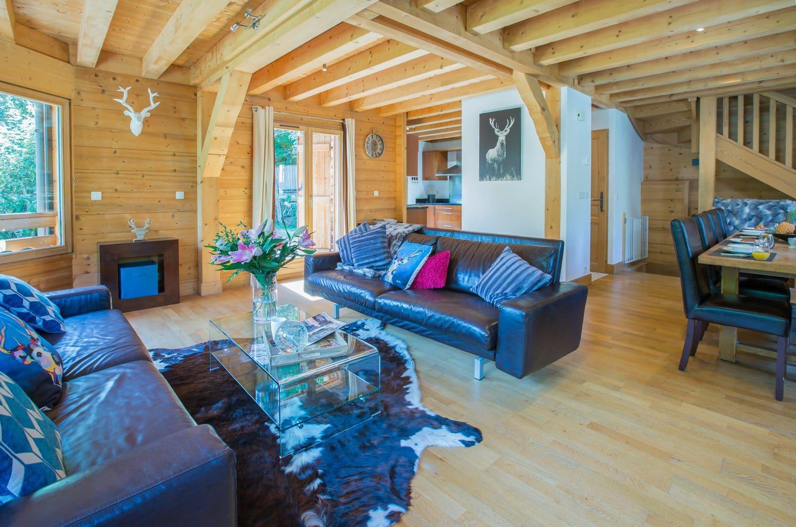 Chalet La Dranse Living Area 1