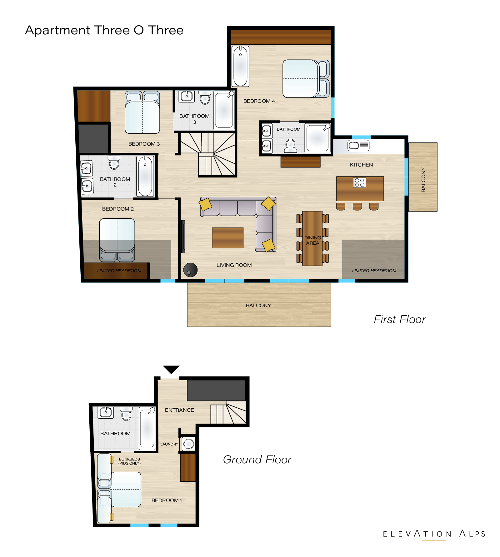 Three 0 Three Penthouse Floor Plan Elevation Alps Elevation Alps