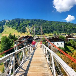 Super Morzine Bridge in summer