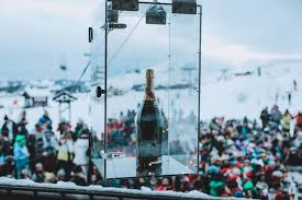 champagne gondola at the Folie Douce in Avoriaz