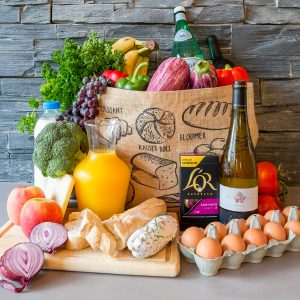 example of a grocery delivery from the concierge services at Elevation Alps Holiday Rentals in Morzine