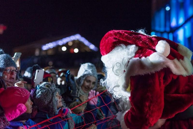 santa claus meet and greet christmas week in morzine