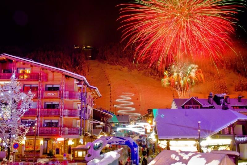 fireworks for christmas in morzine