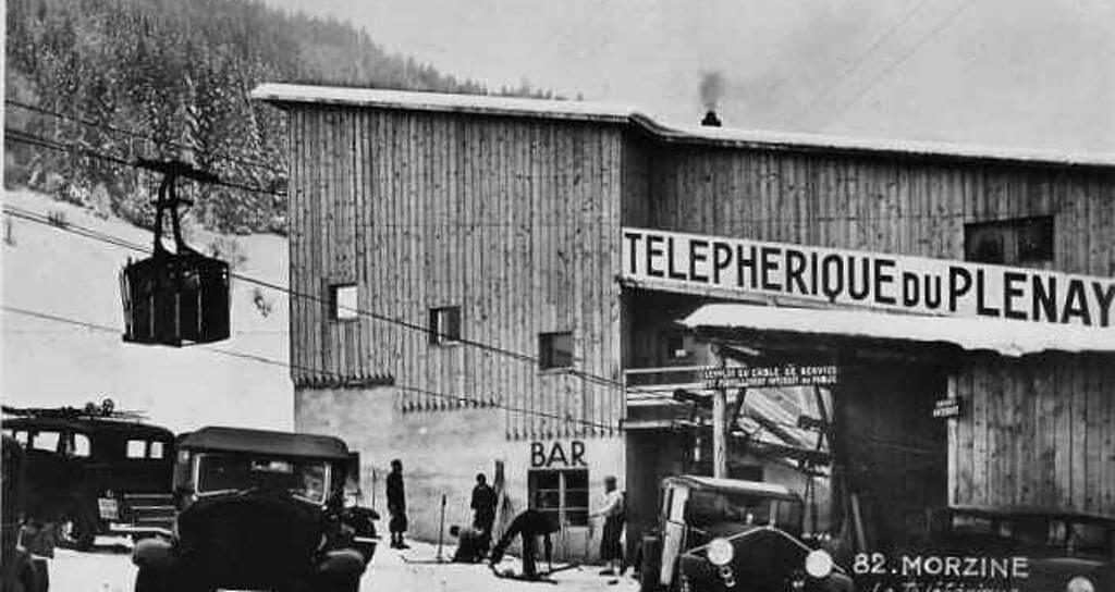 history of skiing in morzine first pleney lift