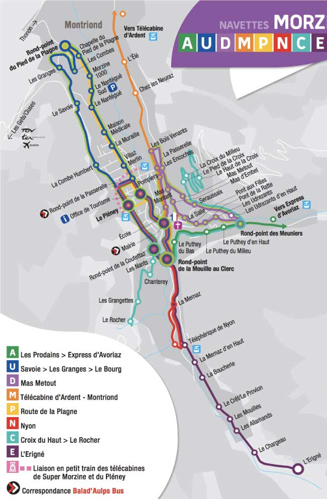 morzine ski busses timetable
