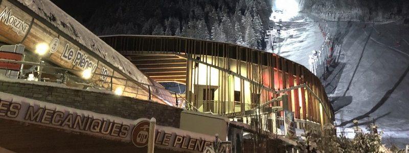 night skiing in Morzine