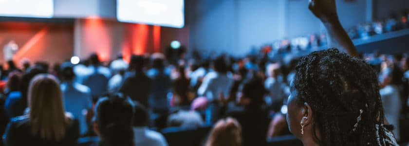 Crowd at the Morzine Film Awards
