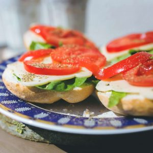 vegetarian sandwich in Morzine