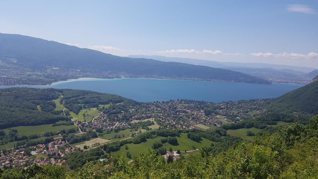 Panoramic View of Annecy Lake