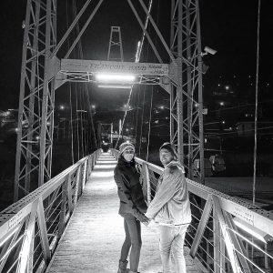 night bridge passerelle