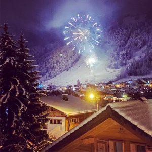 Chalet Yukinko - fireworks - ski chalet in Morzine