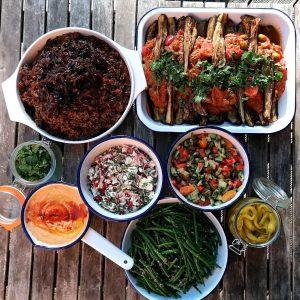 Vegan Colourful food